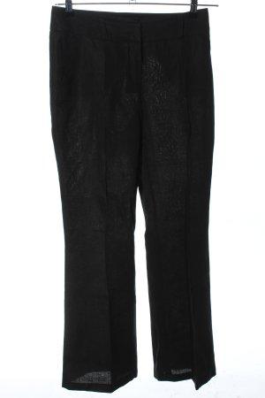 s.Oliver Pantalon en lin noir style d'affaires