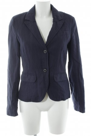 s.Oliver Long Blazer dark blue-silver-colored striped pattern business style