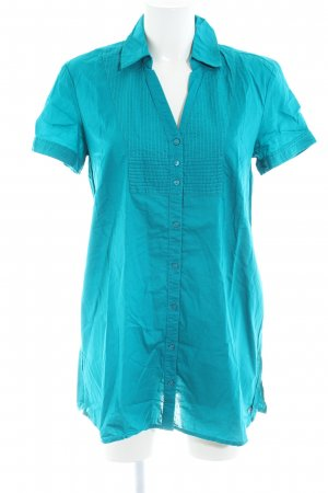 s.Oliver Lange blouse blauw casual uitstraling