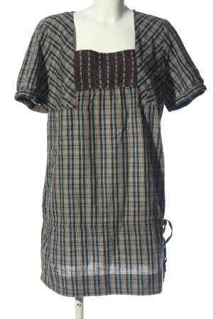 s.Oliver Long-Bluse braun-türkis Allover-Druck Casual-Look