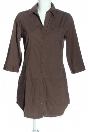 s.Oliver Long-Bluse braun Business-Look
