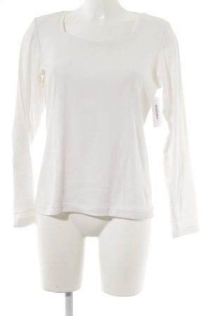 s.Oliver Longshirt wollweiß Casual-Look