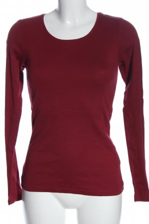s.Oliver Longsleeve rot Streifenmuster Casual-Look