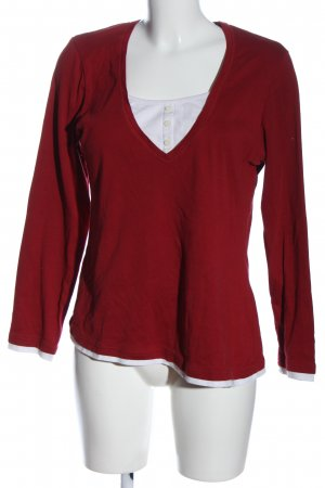 s.Oliver Longsleeve rot-weiß Casual-Look