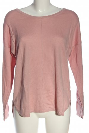 s.Oliver Longsleeve pink Zopfmuster Casual-Look