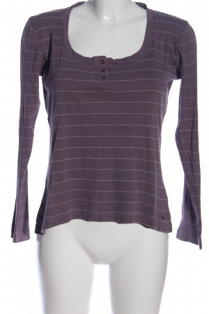 s.Oliver Longsleeve lilac-light grey allover print casual look