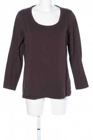 s.Oliver Longsleeve braun Casual-Look