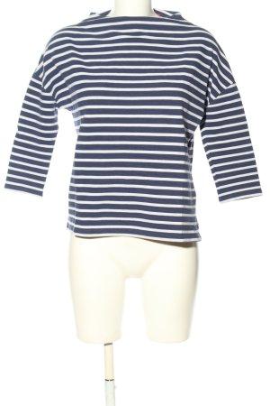 s.Oliver Top à manches longues bleu-blanc motif rayé style décontracté