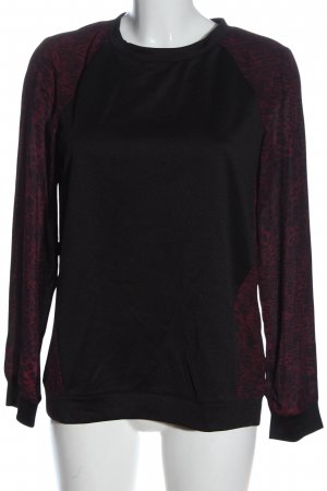 s.Oliver Longsleeve schwarz-rot Animalmuster Casual-Look