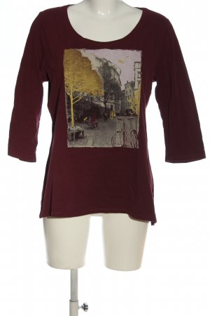 s.Oliver Longsleeve rot Motivdruck Casual-Look