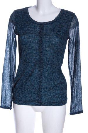 s.Oliver Longsleeve blau-schwarz abstraktes Muster Casual-Look