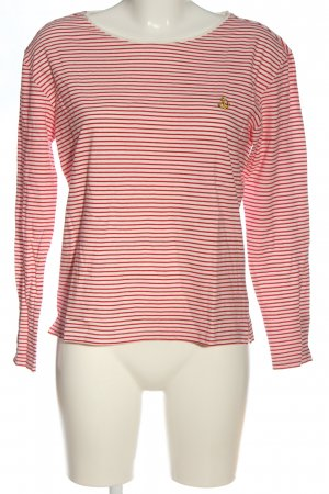 s.Oliver Longsleeve weiß-rot Allover-Druck Casual-Look