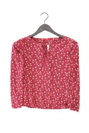 s.Oliver Longsleeve-Shirt Größe 36 mit Blumenmuster Langarm rot aus Viskose
