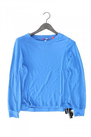 s.Oliver Longsleeve-Shirt Größe 38 Langarm blau aus Viskose