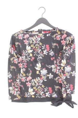 s.Oliver Longsleeve-Shirt Größe 38 mit Blumenmuster Langarm mehrfarbig aus Baumwolle