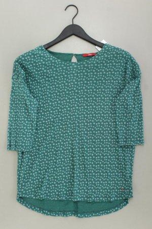 s.Oliver Longsleeve-Shirt Größe 40 Langarm grün aus Polyamid