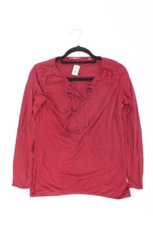 s.Oliver Longsleeve-Shirt Größe 40 Langarm rot aus Viskose