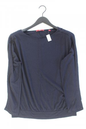 s.Oliver Longsleeve-Shirt Größe 42 Langarm blau aus Baumwolle