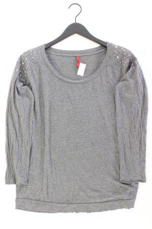 s.Oliver Longsleeve-Shirt Größe L Langarm mit Nieten grau aus Baumwolle