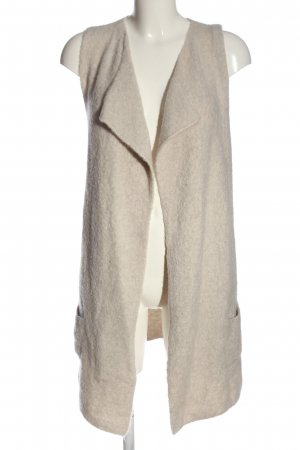 s.Oliver Long Knitted Vest natural white casual look