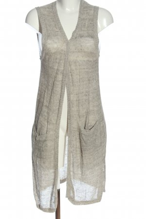 s.Oliver Long Knitted Vest light grey flecked casual look