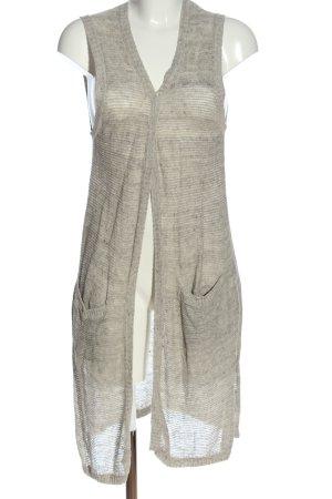 s.Oliver Gilet long tricoté gris clair moucheté style décontracté