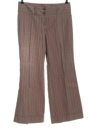 s.Oliver Pantalón anchos marrón-blanco estampado a rayas estilo «business»