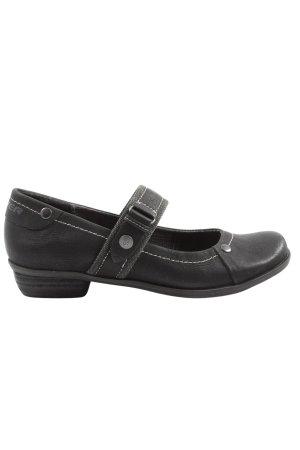 s.Oliver Zapatos Mary Jane negro estampado temático look casual
