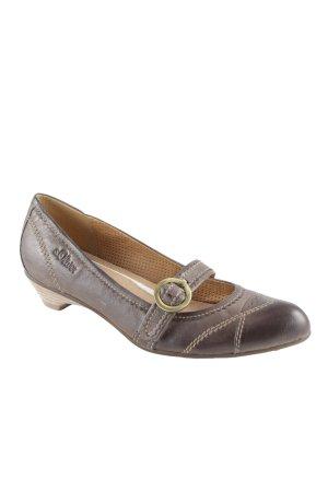 s.Oliver Zapatos Mary Jane marrón grisáceo estilo sencillo