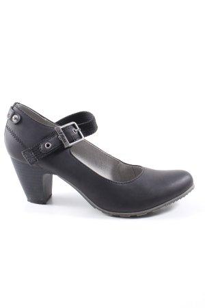 s.Oliver Mary Jane pumps zwart zakelijke stijl