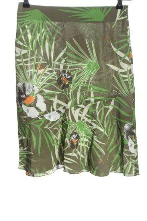 s.Oliver Jerseykleid khaki-grün Allover-Druck Casual-Look