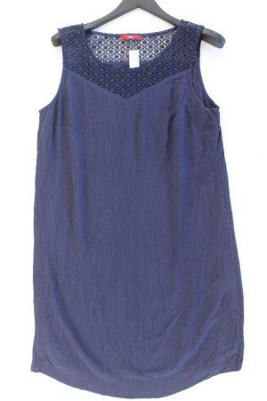 s.Oliver Midi Dress blue-neon blue-dark blue-azure viscose