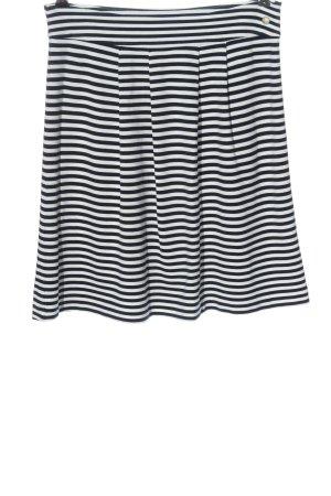 s.Oliver High Waist Rock schwarz-weiß Streifenmuster Casual-Look