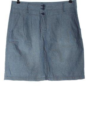 s.Oliver Spódnica midi niebieski-biały Wzór w kropki W stylu casual