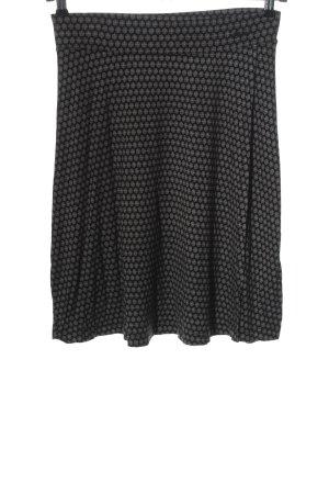 s.Oliver Falda midi negro-blanco estampado con diseño abstracto look casual