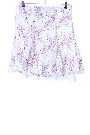 s.Oliver Spódnica midi biały-różowy Na całej powierzchni W stylu casual