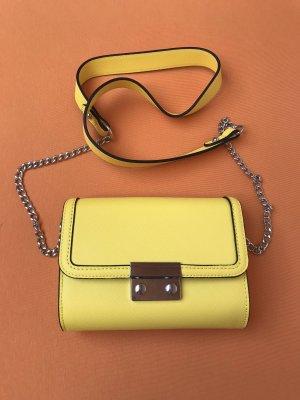 s.Oliver Mini Bag Umhängetasche Textur-Optik gelb Neon klein Kunstleder Neu
