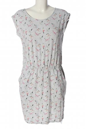 s.Oliver Minikleid hellgrau-pink Allover-Druck Casual-Look