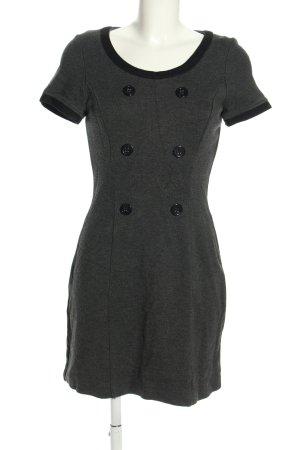 s.Oliver Mini Abito grigio chiaro-nero puntinato stile casual