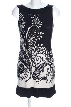 s.Oliver Minikleid schwarz-weiß Blumenmuster Casual-Look