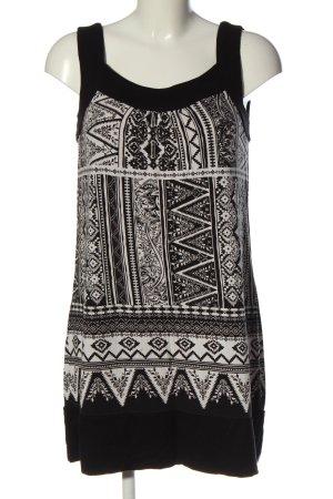 s.Oliver Minikleid weiß-schwarz grafisches Muster Casual-Look