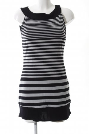 s.Oliver Minikleid schwarz-weiß Streifenmuster Casual-Look