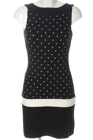 s.Oliver Minikleid schwarz-weiß Punktemuster Casual-Look