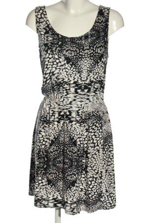 s.Oliver Minikleid schwarz-weiß abstraktes Muster Casual-Look