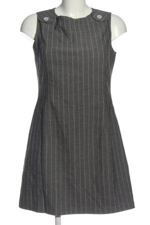 s.Oliver Minikleid hellgrau-weiß Streifenmuster Business-Look