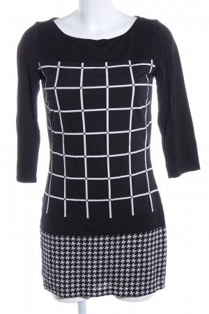 s.Oliver Minikleid schwarz-weiß grafisches Muster Casual-Look