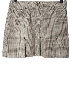 s.Oliver Mini-jupe gris clair-blanc cassé imprimé allover style décontracté