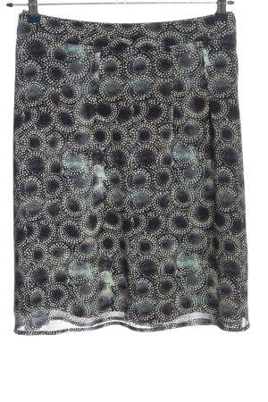 s.Oliver Minirock schwarz-weiß Punktemuster Casual-Look