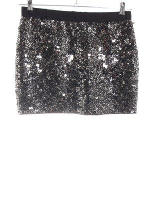 s.Oliver Minirock silberfarben-schwarz extravaganter Stil