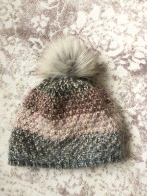 s.Oliver Chapeau en tricot rose-gris